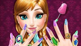 La manucure d'Anna de la Reine des Neiges