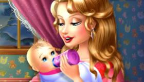 Bébé et le biberon de nuit