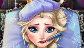 La grippe d'Elsa de La Reine des Neiges
