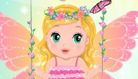 Bébé Camille dans la forêt des fées