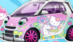 Décoration de voiture Hello Kitty