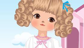 Jeu de fille et de poupée