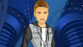Justin Bieber sous la pluie