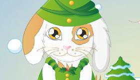 Jeu de lapin de Noël