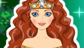 Coiffure de Merida la princesse Disney