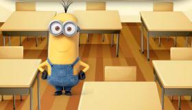 Les minions à l'école