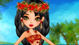 Habille la princesse Moana