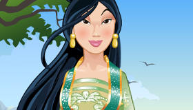 Maquillage traditionnel de la princesse Mulan