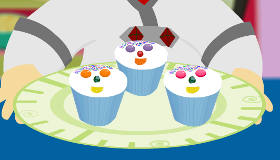 Magasin de gâteaux à Noël