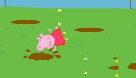 Peppa Pig et les flaques de boue