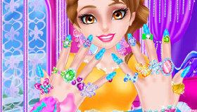 Princesse au salon de manucure