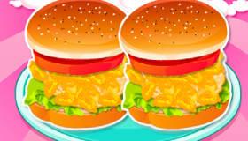 Hamburgers de filles pour l'été