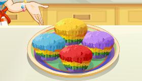 Des cupcakes arc-en-ciel