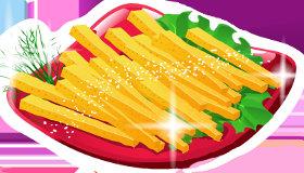 Frites et hamburger