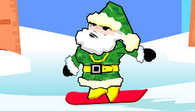 Le père noël en snowboard