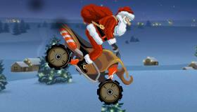 Jeu de moto avec le Père Noël