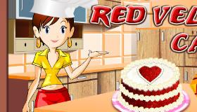 Sara cuisine un gâteau