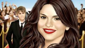 Maquillage de Selena Gomez avec Justin Bieber