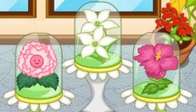 Produits de beauté fleuris