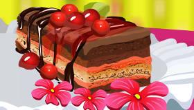 Délicieux gâteau aux cerises