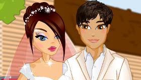 Jeux d'habillage de mariés