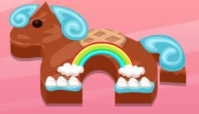 Le gâteau poney d'anniversaire